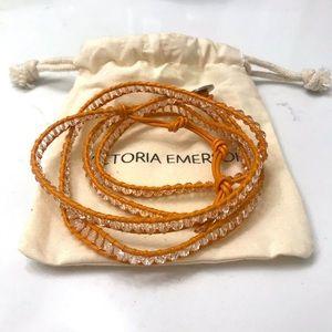 Victoria Emerson Orange 5 wrap bracelet